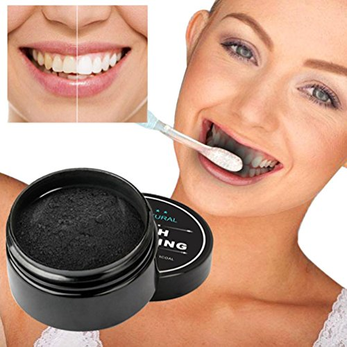 MNtech Teeth Whitening Powder, Natural Organic Activated Charcoal Bamboo Toothpaste for Teeth Whitening