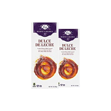 Vosges Haut-Chocolat Dulce de Leche Chocolate, Pack of 2, 3oz Bars