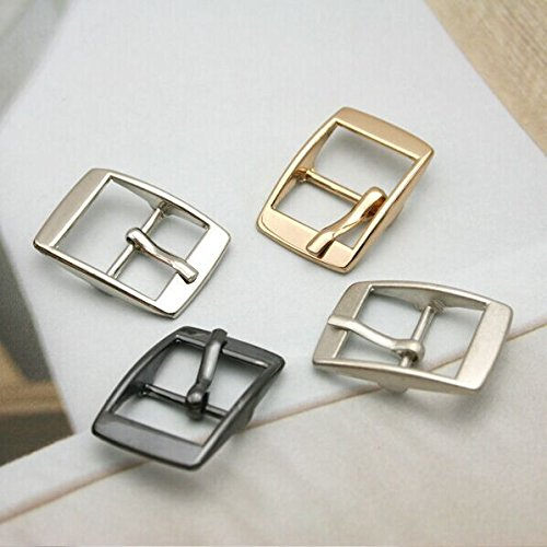 Buckes - Wholesale 40pcs/lot Metal 14mm Shoe Buckle with pin Alloy Belt Buckle high Polished Buckle BK-037 - (Size: Mixed Color) from Lysee