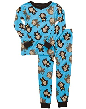 Carter's Baby Boys' Long Sleeved Monkey Pajamas