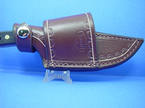 Knife Sheath Designs - Custom Cross Draw Leather Knife Sheath for Schrade Old-timer sharp Finger Style Knife Number 15 20t.