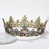 SWEETV Jeweled Baroque Queen Crown - Rhinestone