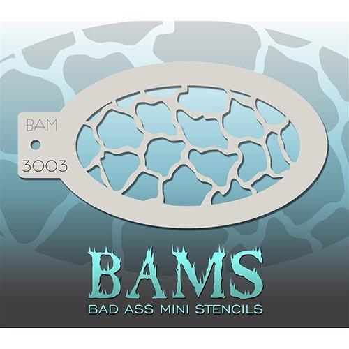 Bad Ass Scales/Giraffe Mini Stencil BAM3003