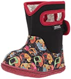 Bogs Baby Kiddy Cars Snow Boot, Black/Multi, 6 M US Toddler