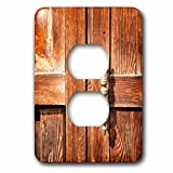 3dRose Alexis Photography - Objects - Old wooden door with a handle - Light Switch Covers - 2 plug outlet cover (lsp_271302_6)