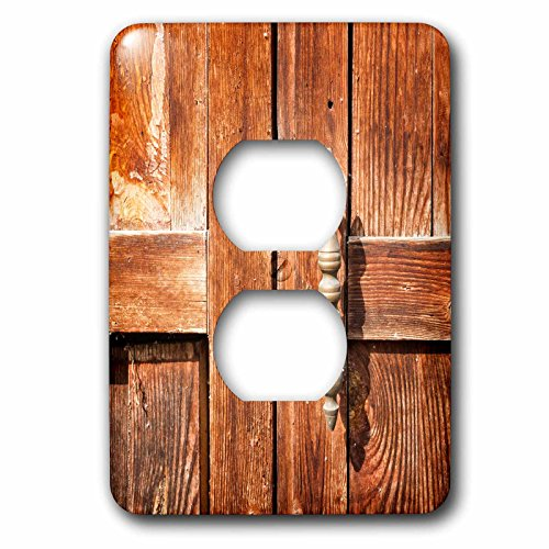 3dRose Alexis Photography - Objects - Old wooden door with a handle - Light Switch Covers - 2 plug outlet cover (lsp_271302_6) by 3dRose