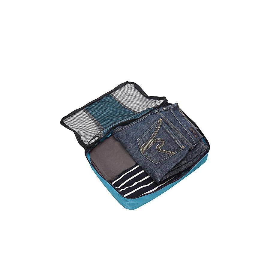 eBags Medium Packing Cubes for Travel 3pc Set (Aquamarine)