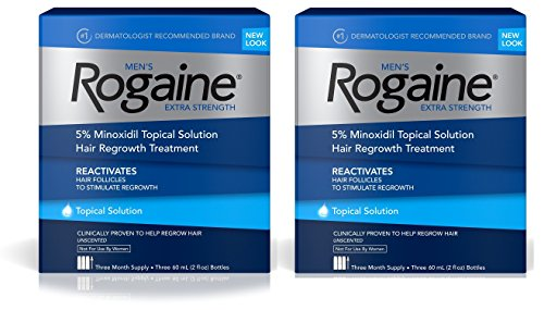Men's Rogaine Extra Strength Solution 2 pack (3 2oz bottles ea) by Rogaine