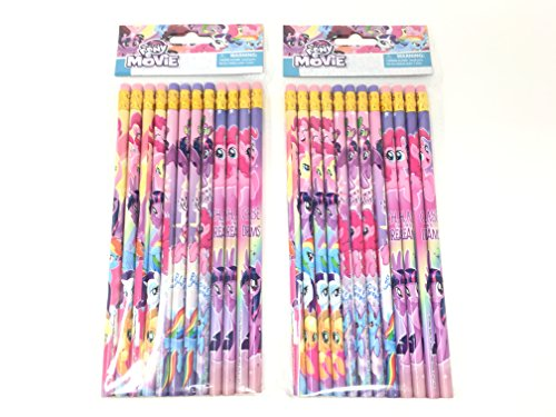 24 Pcs My Little Pony Wood Pencils Birthday Party Favors Bag Fillers - 2 DZ]()