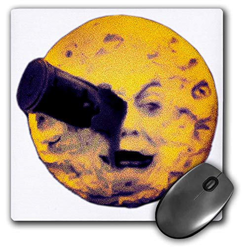 3dRose Scenes from The Past Ephemera - A Trip to The Moon Happy Halloween Edition Vintage Sci Fi - Mousepad (mp_243736_1) ()