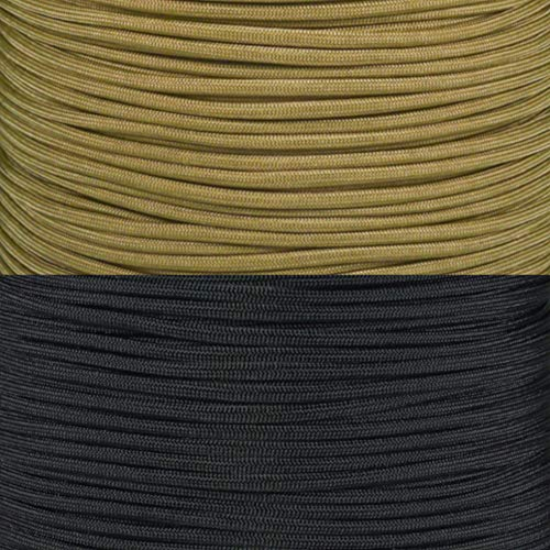 PARACORD PLANET College Team Paracord Kits - 100 Feet - Colors Vary Depending on Team - Bracelet Lanyard Indoor Outdoor (Wake Forest Demon Deacons)