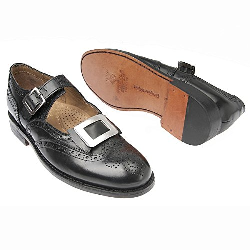 - AE Struthers - Thistle Leather Traditional Custom Grade Comfort Good Year Welted Military Buckle Brogue
