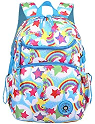 Tonlen Colorful Girl Kid School Book Bag for Elementary Backpack