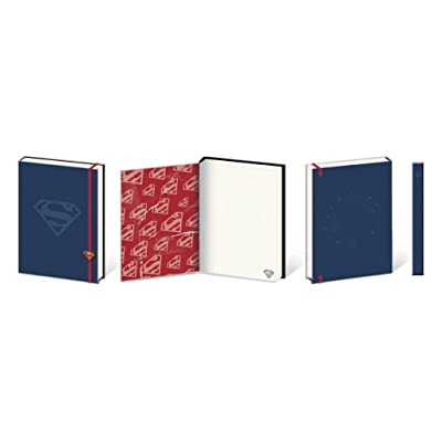Pyramid America Superman Shield Premium Notebook 180 Page Journal Notebook 6x8 inch: Toys & Games