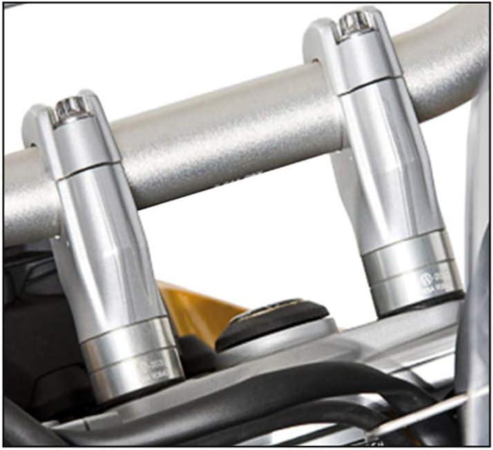 F800GS Shiwaki Adaptador Elevador De Mango De Motocicleta Plateado De 1 Par Para F650 F700