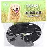 Coastal Pet Products DCP906HBLK Cotton Web Collar Lead for Dogs, 5/8 by 6-Feet, Black