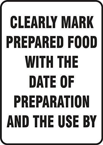Food Safety Sign Dura-Vinyl - Size: 10