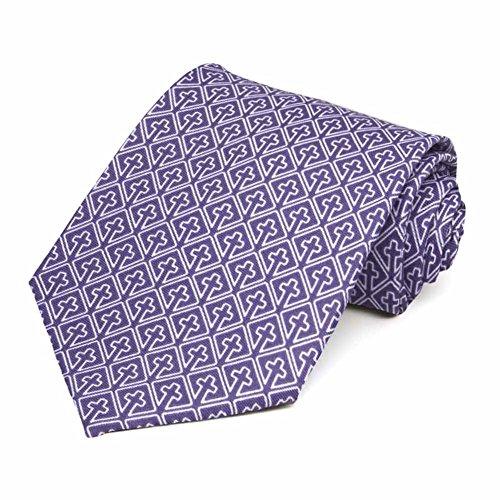 TieMart Religious Cross Necktie
