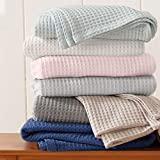 Great Bay Home 100% Cotton Waffle Weave Premium Blanket. Lightweight and Soft, Perfect for Layering. Mikala Collection (King, Taupe)