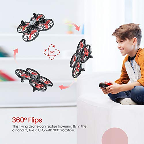 Tomzon D15 Mini Drone for Kids, RC Quadcopter with Altitude Hold, One Key take Off/Land, Headless Mode,3D Flip, Speed Adjustment Infrared Induction, Anti-Collision, Hand Operated and 2 Batteries