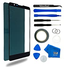 Front Glass for LG G Stylo 2 LS 775 5.7 Inch Black Display Touchscreen incl 12 pcs Tool Kit / Pre-cut Sticker / Tweezers/ Roll of 2mm Adhesive Tape / Suction Cup / Metal Wire / Microfiber cleaning cloth MMOBIEL