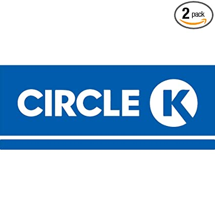 Amazon com: NBFU DECALS Logo Circle K (Azure Blue) (Set of 2