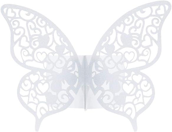 Dokpav 50 X Ronds De Serviette Papillon Pearly Anneau Papier De Serviette Pour Mariage Communion Graduation Anniversaire Fête Party Noël Décorations Blanc Amazon Fr Cuisine Maison