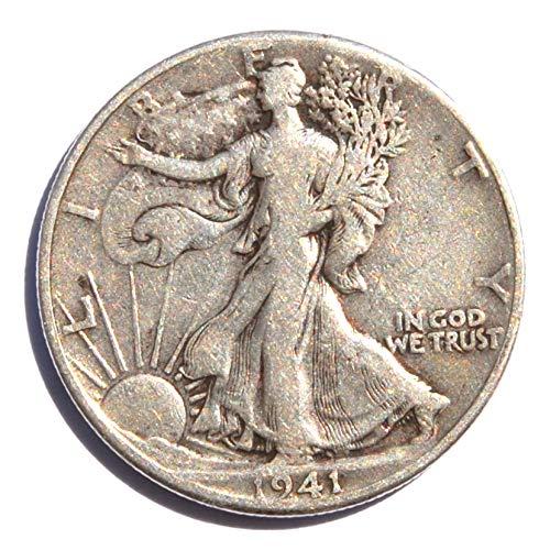 1941 United States of America, Wartime, Walking Liberty (Silver .900) Philadelphia Mint #2, World War II Half Dollar Very Fine