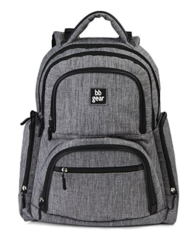 Bb Bag (BB Gear Unisex Diaper Bag Backpack for Men and Women – Simple, Lightweight Design With Wipes Holder and 11 Pockets)