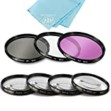 58mm 7 Piece Filter Set Includes 3 PC Filter Kit (UV-CPL-FLD-) And 4 PC Close Up Filter Set (+1+2+4+10) for Canon, Nikon, Olympus, Pentax, Sony, Sigma, Tamron SLR Lenses, Digital Cameras & Camcorders