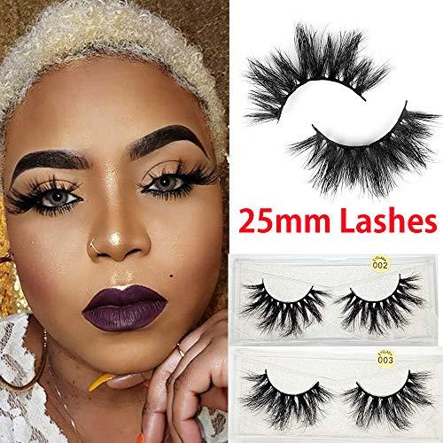 2cec4ab3388 25mm Lashes 3D Mink Hair False Eyelashes Multilayers Dramatic Wispy ...