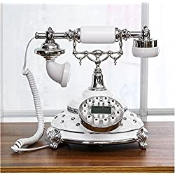 MD Group Rotary Telephone Old Fashioned Vintage Antique Retro Phone Handset Office Equipment Home Decor