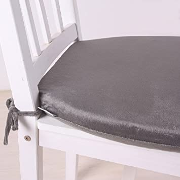 MochoHome Memory Foam Dining Chair Cushion Pad With Ties Dark Grey