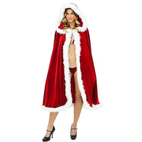 Shisky Disfraz de Navidad Adulto, Mantón de Terciopelo de ...