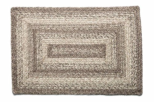 IHF Home Decor Ashwood   Braided Area Rug Handwoven Reversible Rectangle Carpet for Living Room Porch Dormitory Home Decorative Rugs   100% Natural Jute Durable Floormat - Diameter 36