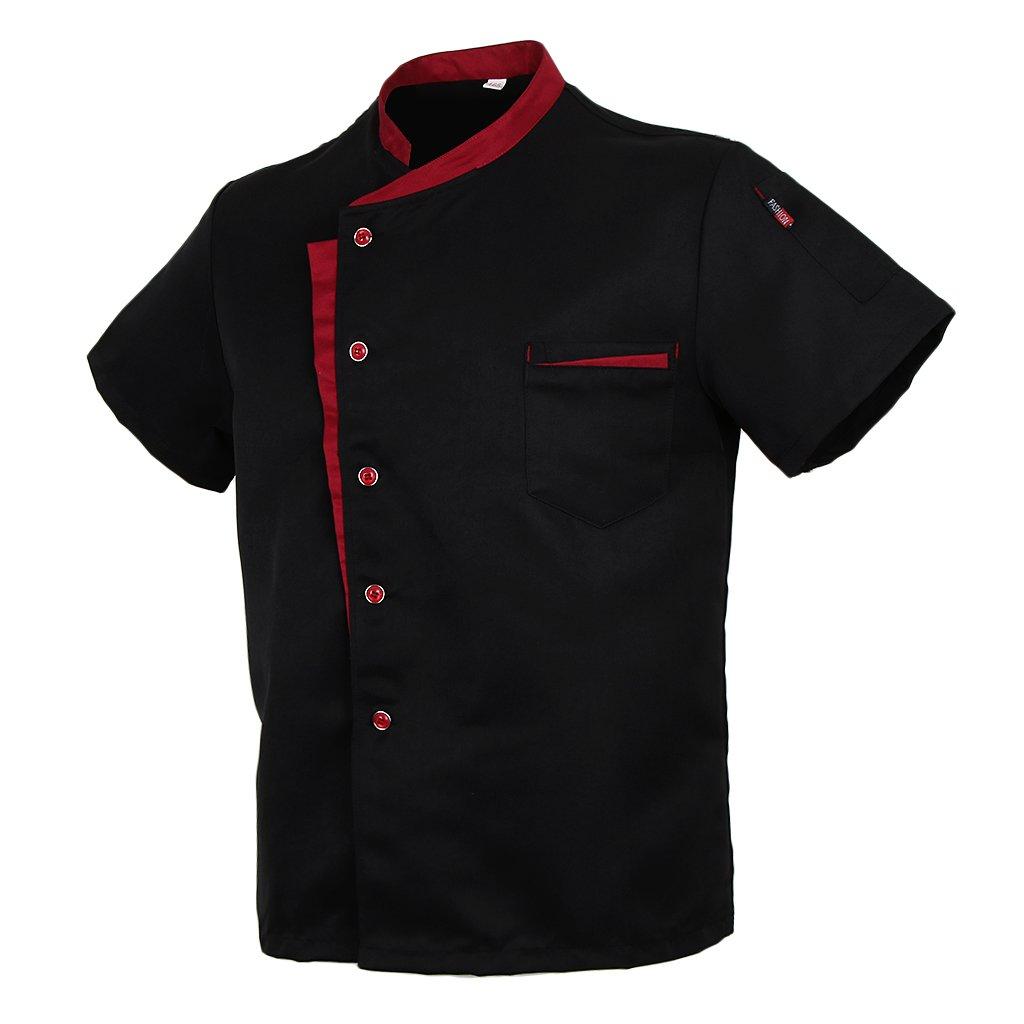 Homyl Cuoco Chef Giacca Maniche Corte Tunica Hotel Camerieri Uniforme Da Cucina