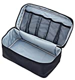 Packing Organizer Bra Underwear Storage Bag Travel Lingerie Pouch Toiletry Organizer (Black L)