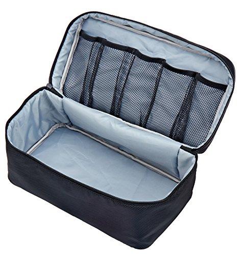 Packing Organizer Bra Underwear Storage Bag Travel Lingerie Pouch Toiletry Organizer (Black L) ()