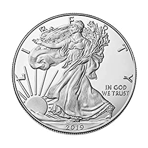 2019 – American Silver Eagle .999 Fine Silver with Our Certificate of Authenticity Dollar Uncirculated US Mint