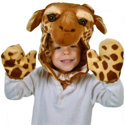 Animal World - Giraffe Cap & Paw Kid's Costume Set Tan