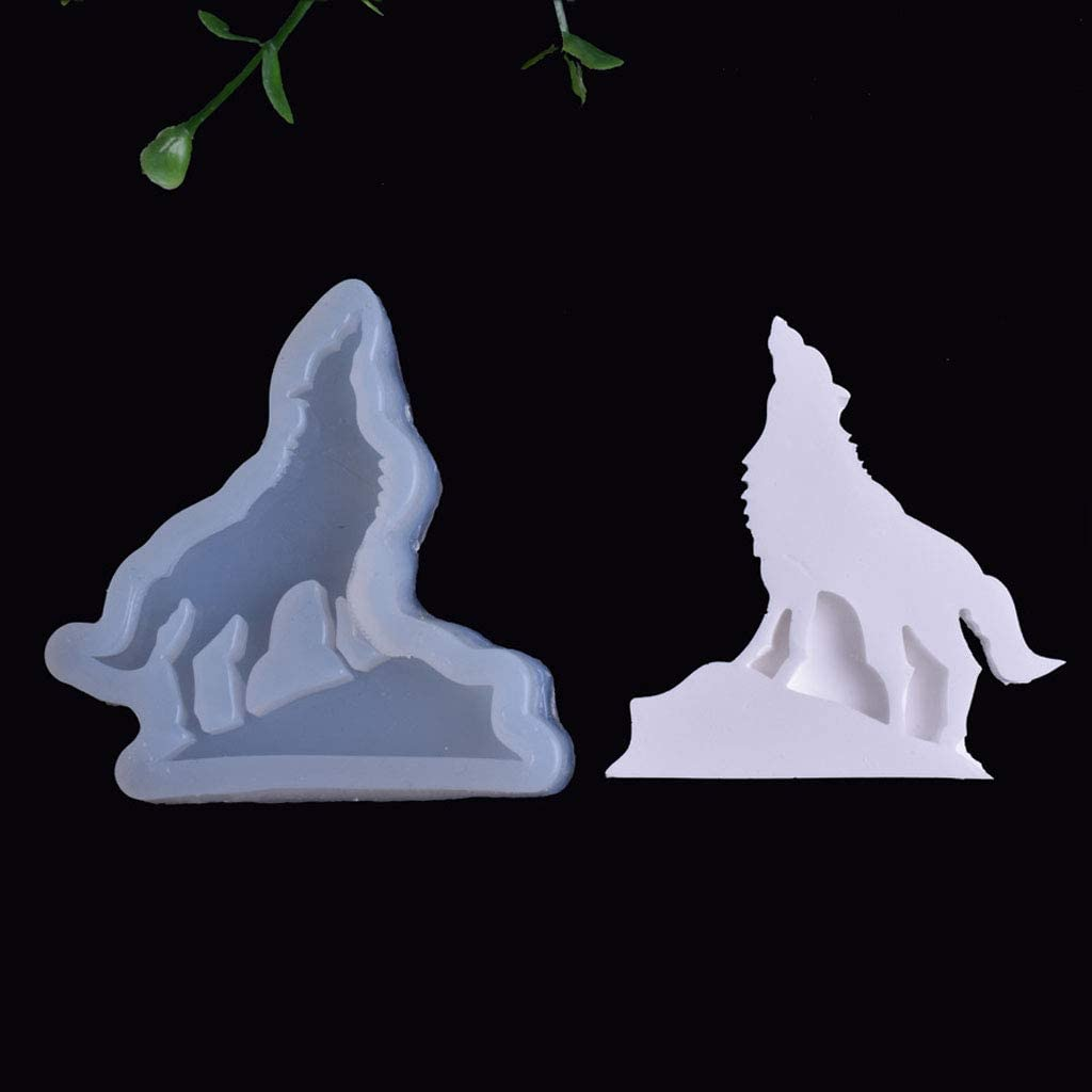 KANGneei Silicone Mold DIY Wolf Butterfly Monkey Train Pendant Silicone Resin Mold Jewelry Making Tools