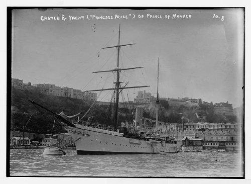 photo-princess-alice-yacht-of-prince-of-monacocastle-in-backgroundmonaco