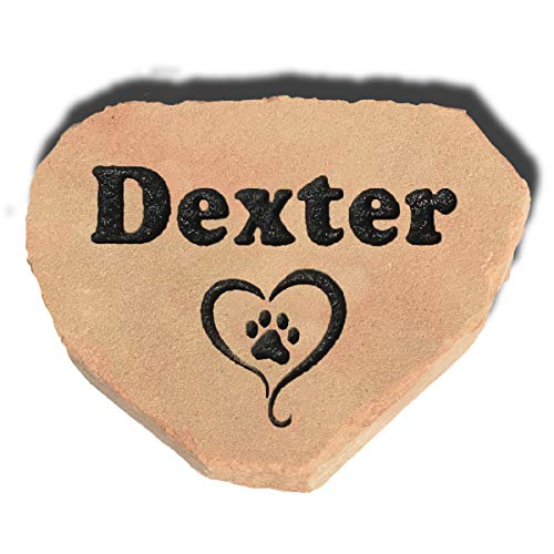 Garden Stones Custom - Accent Direct Personalized Pet Memorial Stone | Custom Engraved Natural Stone | Grave Marker, Garden Stone, Desk or Shelf, Indoor or Outdoor | Color – Buckskin.