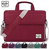 Laptop Bag 13.3-15.6 inch Rawboe Oxford Fabric Portable Laptop Sleeve Case for Men/Women Messenger Bag for Apple MacBook Pro /Dell /Lenovo /HP Samsung with Shoulder Strap and Multiple Pockets - Maroon