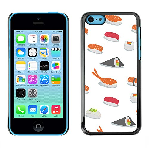Premio Sottile Slim Cassa Custodia Case Cover Shell // V00002487 Motif Sushi // Apple iPhone 5C