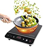 electric 3 burner cooktop - Cosmo 1800-Watt Portable Induction Cooktop Countertop Burner, COS-YLIC1