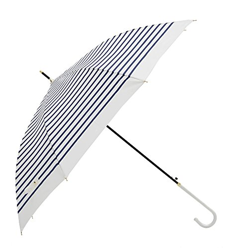 tiohoh-Soul of the sea 길이 우산 레이디스 슬림 경량 발수 가공 점프식 마린 스타일 양산 우산 겸용 강건 인기 멋쟁이 직경98cm(보더・네이비)