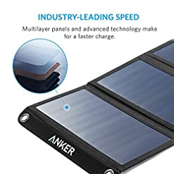 Anker PowerPort Solar (21W 2-Port USB Solar Charger) for iPhone 6/6 Plus, iPad Air 2 / mini 3, Galaxy S6 / S6 Edge and… Most Gifted