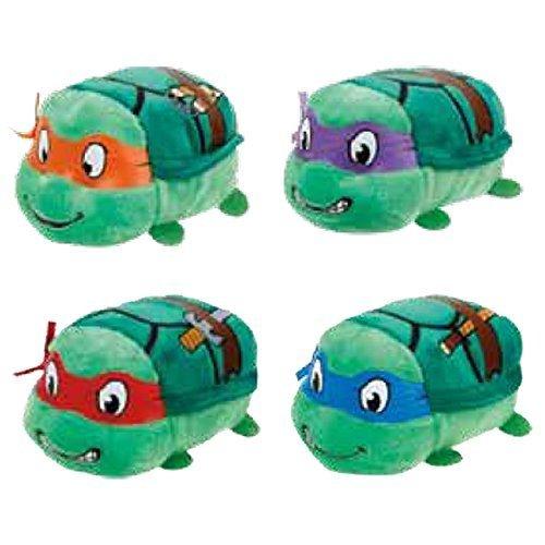 TY Beanie Boos - Teeny Tys Stackable Plush - TMNT - SET OF 4 (Donatello, Raphael, Michelangelo & Leo