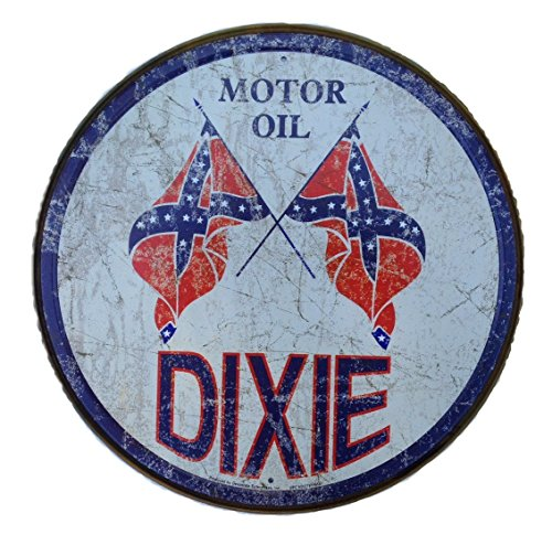 d Round Oil & Gasoline Tin Sign 11.75